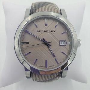 Burberry Beige Swiss Heritage Leather Watch